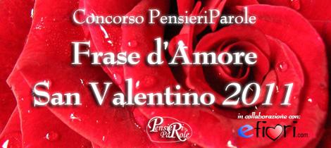 Concorso Frase d'Amore - San Valentino 2011